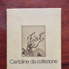Postales: FIAT: CARTOLINE DA COLLEZIONE. REPRODUCCIÓ DE 6 POSTALS PUBLICITÀRIES DE FIAT EN UN CONTENIDOR. Lote 234467845