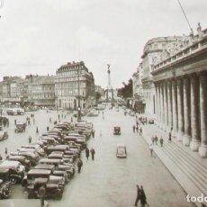 Postales: ANTIGUA POSTAL FOTOGRÁFICA DE LA PLAZA DE LA COMEDIA Y EL GRAN TEATRO DE BURDEOS. ELCÉ.. Lote 235150330