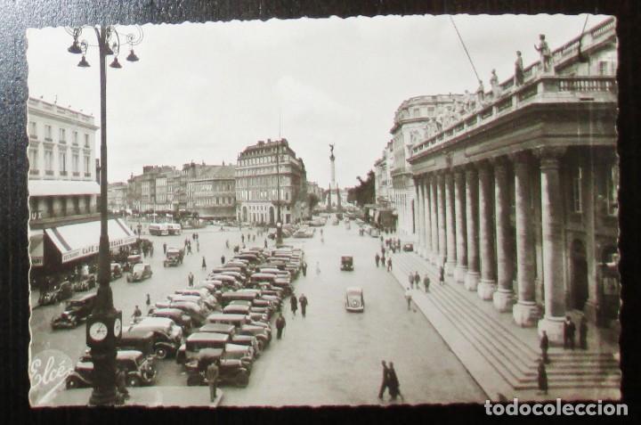 Postales: ANTIGUA POSTAL FOTOGRÁFICA DE LA PLAZA DE LA COMEDIA Y EL GRAN TEATRO DE BURDEOS. ELCÉ. - Foto 2 - 235150330