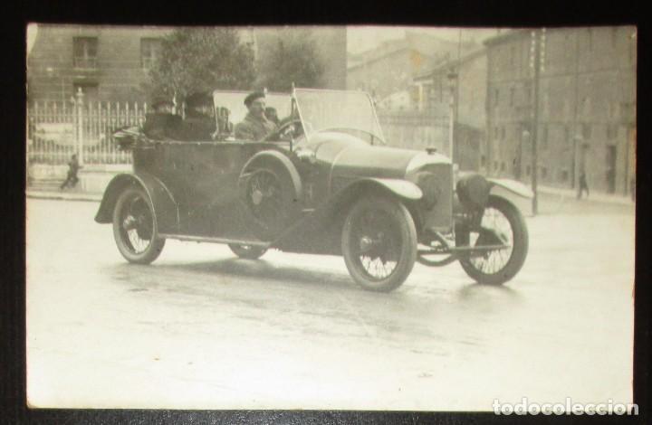 POSTAL FOTOGRÁFICA DE AUTOMÓVIL FRANCÉS EN LA PRIMERA GUERRA MUNDIAL. 1918. (Postales - Postales Temáticas - Coches y Automóviles)