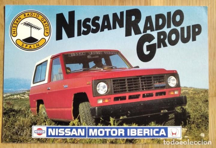 NISSAN MOTOR IBERICA - NISSAN RADIO GROUP (Postales - Postales Temáticas - Coches y Automóviles)