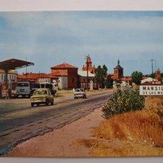 Postales: SEAT 850 / CAMIÓN PEGASO - ESTACIÓN DE SERVICIO - MANSILLA DE LAS MULAS LEÓN - P45562. Lote 240058490