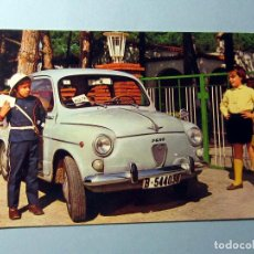 Postales: SEAT 600 CON NIÑOS COLOR CIRCULADA AÑO 1970. Lote 240082770