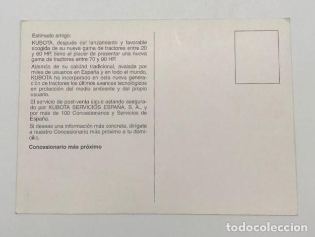 Postales: POSTAL TRACTOR MODELOS M6800/M8200/M9000 - Foto 2 - 240746955