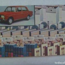 Postales: POSTAL DE LA RUEDA DE LA FORTUNA: COCHE SEAT 1430, LIBROS, ETC. SELECCIONES DEL READER´S DIGEST. Lote 242188245