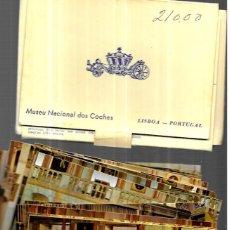 Postales: 32 POSTALES * MUSEO NACIONAL COCHES . LISBOA * EN SU CARPETA. Lote 245048420