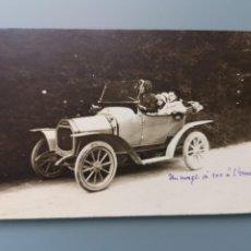 Postales: POSTAL FOTOGRAFICA COCHE AUTOMOVIL PERFECTA CONSERVACION. EN TORNO A 1905 1910. Lote 245528800