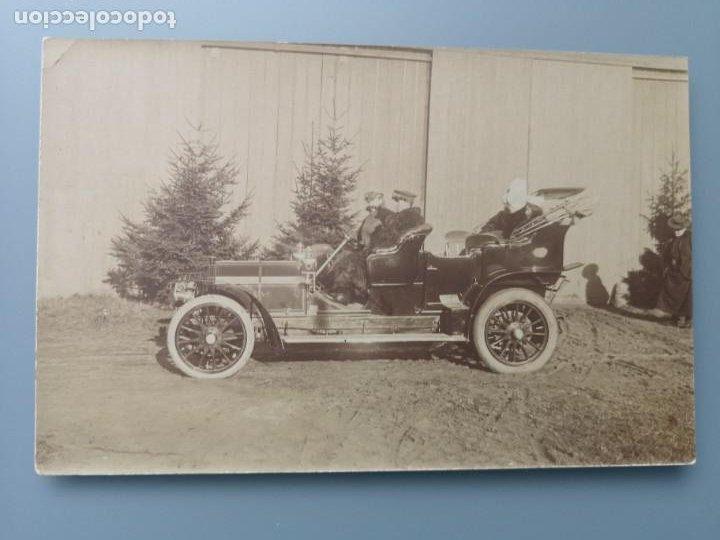 POSTAL FOTOGRAFICA COCHE AUTOMOVIL PERFECTA CONSERVACION. EN TORNO A 1905 1910 (Postales - Postales Temáticas - Coches y Automóviles)