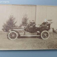 Postales: POSTAL FOTOGRAFICA COCHE AUTOMOVIL PERFECTA CONSERVACION. EN TORNO A 1905 1910. Lote 245529050