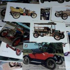 Postales: MAGNIFICO LOTE DE 75 ANTIGUAS POSTALES DE COCHES ANTIGUOS AUTOMOVILISMO. Lote 247246455