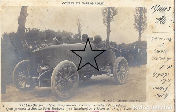 CARRERA PARIS MADRID 1903 (Postales - Postales Temáticas - Coches y Automóviles)