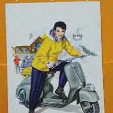 Cartoline: VESPA CLUB SPAIN AÑOS 50 MONTAÑA TELEFERICO MONTAÑISMO POSTAL SC ORIGINAL 15 X 10,5 CM ASENGA. Lote 255490565