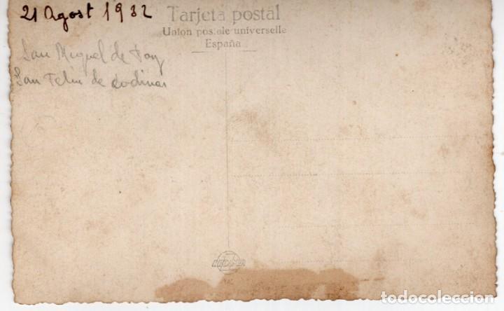 Postales: Moto con sidecar. De Sant Miquel del Fay a Sant Feliu de Codines 1932 - Foto 2 - 255964845
