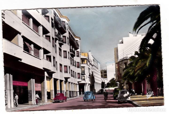 POSTAL RABAT AUTOMOVILES AVENIDA DE LA REPUBLICA MARRUECOS (Postales - Postales Temáticas - Coches y Automóviles)