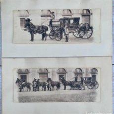 Postales: DOS POSTALES DOBLES - CABALLOS Y CARRUAJE REAL - EDICIÓN M. PALOMEQUE. Lote 261639735