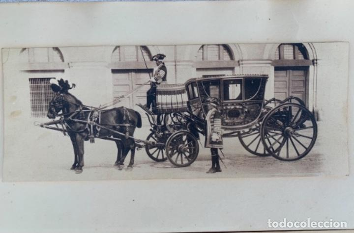Postales: DOS POSTALES DOBLES - CABALLOS Y CARRUAJE REAL - EDICIÓN M. PALOMEQUE - Foto 2 - 261639735