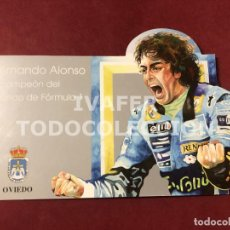 Postales: TARJETA FERNANDO ALONSO BICAMPEON DEL MUNDO DE FORMULA 1, EDITADA POR AYUNTAMIENTO DE OVIEDO. Lote 261878725
