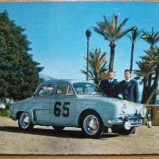 Postales: RALLYE DE MONTE-CARLO 1958. RENAULT DAUPHINE TODAS LAS CATEGORIAS VENCEDORES MONRAISSE-FERET. Lote 263579260