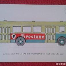 Postales: POST CARD AUTOBUS BUS ACLO TIPO 400 TRANSFORMADO EN ACLO-SEIDA TRANSPORTES DE BARCELONA FIRESTONE.... Lote 266522873