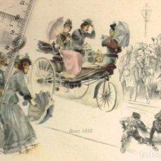 Postales: 1956 BENZ 1888 BONITA POSTAL ILUSTRACIÓN DE HANS LISKA, EL ILUSTRADOR DE MERCEDES-BENZ.... Lote 268157894