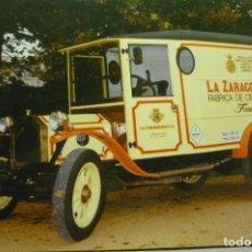 Postales: POSTAL VEHICULO REPARTO FABRICA CERVEZAS LA ZARAGOZANA SA -. Lote 268881174