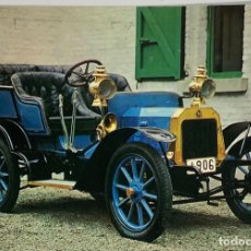 Cartoline: POSTAL COCHES ANTIGUOS. PEUGEOT LION 1906. CIRCULADA HOLANDA 70S. Lote 274895203