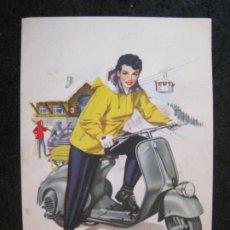 Cartes Postales: VESPA CLUB DE ESPAÑA-POSTAL ANTIGUA-VER FOTOS-(82.667). Lote 275603863