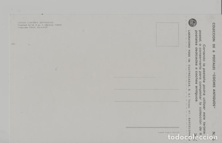 Postales: LOTE A-POSTAL PUBLICIDAD TAMAÑO GRANDE N 6 -25X15 COCHES AÑOS 60 - Foto 2 - 287669358