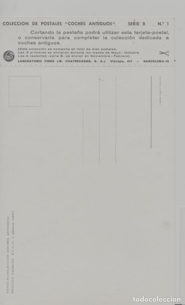 Postales: LOTE A-POSTAL PUBLICIDAD TAMAÑO GRANDE N 1 -25X15 COCHES AÑOS 60 - Foto 2 - 287669553