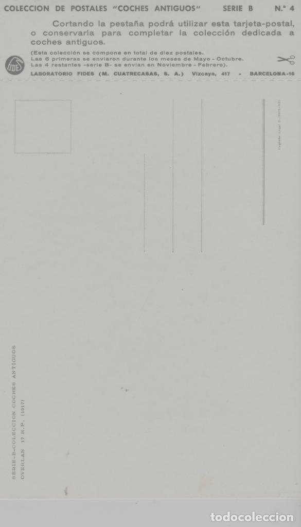 Postales: LOTE A-POSTAL PUBLICIDAD TAMAÑO GRANDE N 3 -25X15 COCHES AÑOS 60 - Foto 2 - 287669788