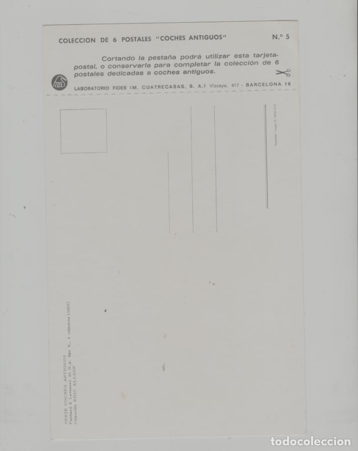 Postales: LOTE A-POSTAL PUBLICIDAD TAMAÑO GRANDE N 5 -25X15 COCHES AÑOS 60 - Foto 2 - 287669888