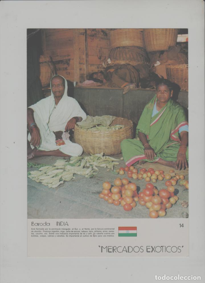 LOTE A-POSTAL PUBLICIDAD TAMAÑO GRANDE -24X16 MERCADOS EXOTICOS INDIA AÑO 1973 (Postales - Postales Temáticas - Coches y Automóviles)