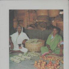 Postales: LOTE A-POSTAL PUBLICIDAD TAMAÑO GRANDE -24X16 MERCADOS EXOTICOS INDIA AÑO 1973. Lote 287671343