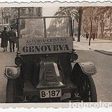 Postales: X126152 RARO FOTO RENAULT TIPO G BARCELONA ASTORIA CRISTINA A PARTIR DEL SABADO DE GLORIA GENOVEVA. Lote 288366873