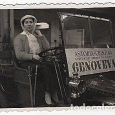Postales: X126153 RARO FOTO RENAULT TIPO G BARCELONA ASTORIA CRISTINA A PARTIR DEL SABADO DE GLORIA GENOVEVA. Lote 288367183