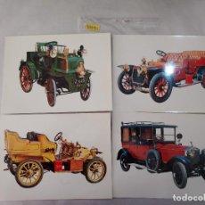 Postales: 50051 - LOTE DE 4 POSTALES DE COCHES ANTIGUOS DE 21X15 CM -. Lote 288461183