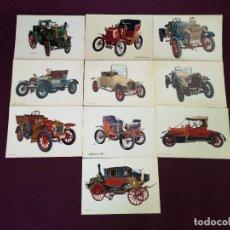 Postales: LOTE CON 10 POSTALES DE COCHES ANTIGUOS, VINTAGE. Lote 293196463