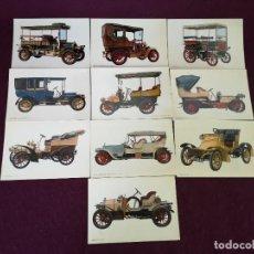 Postales: LOTE CON 10 POSTALES DE COCHES ANTIGUOS, VINTAGE. Lote 293196723