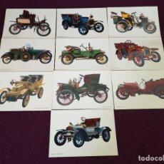 Postales: LOTE CON 10 POSTALES DE COCHES ANTIGUOS, VINTAGE. Lote 293196998