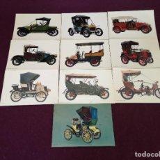 Postales: LOTE CON 10 POSTALES DE COCHES ANTIGUOS, VINTAGE. Lote 293197288