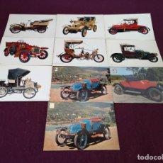 Postales: LOTE CON 10 POSTALES DE COCHES ANTIGUOS, VINTAGE. Lote 293197543