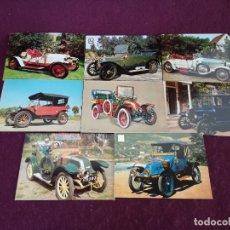 Postales: LOTE CON 8 POSTALES DE COCHES ANTIGUOS, VINTAGE. Lote 293197843