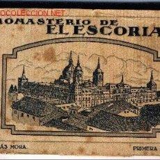 Postales: POSTALES DEL MONASTERIO DE EL ESCORIAL . Lote 2089456
