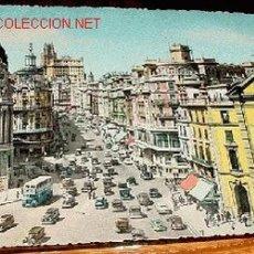 Postales: ANTIGUA POSTAL COLOREADA Y CIRCULADA - MADRID - AVENIDA DE JOSE ANTONIO -. Lote 792629