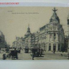Postales: MADRID CALLE DE ALCALA Y FENIX ESPAÑOL. Lote 2318748