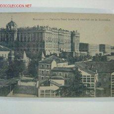 Postales: MADRID PALACIO REAL DESDE EL CUARTEL DE LA MONTAÑA. Lote 2321607