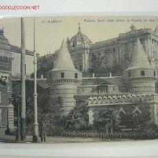 Postales: MADRID PALACIO REAL VISTO DESDE LA CUESTA DE SAN VICENTE. Lote 518011