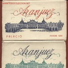 Postales: ARANJUEZ. TRES CARNETS CON 12 POSTALES CADA UNO, PALACIO, JARDINES Y CASITA DEL LABRADOR.. Lote 25378087