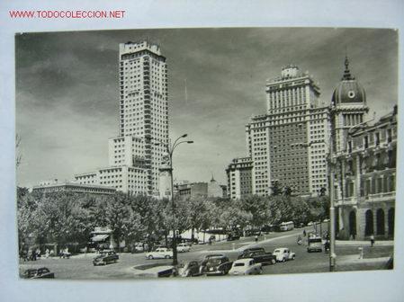 MADRID PLAZA DE ESPAÑA. TORRE DE MADRID (Postales - España - Comunidad de Madrid Antigua (hasta 1939))