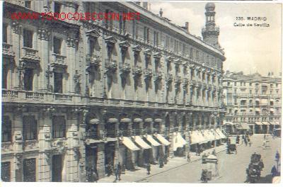 CALLE DE SEVILLA. MADRID (Postales - España - Comunidad de Madrid Antigua (hasta 1939))
